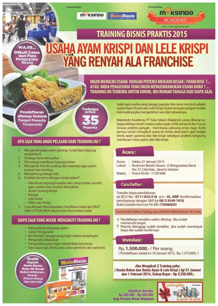 training usaha ayam krispi