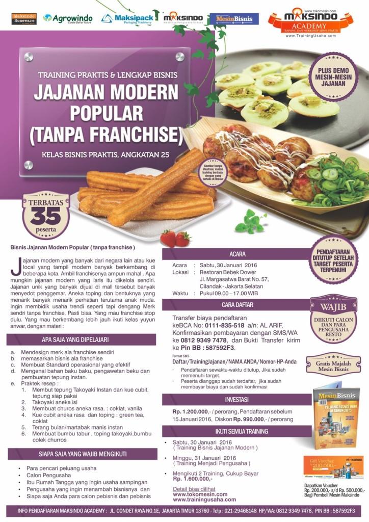 Brosur Bisnis jajanan modern popular (tanpa  franchise)
