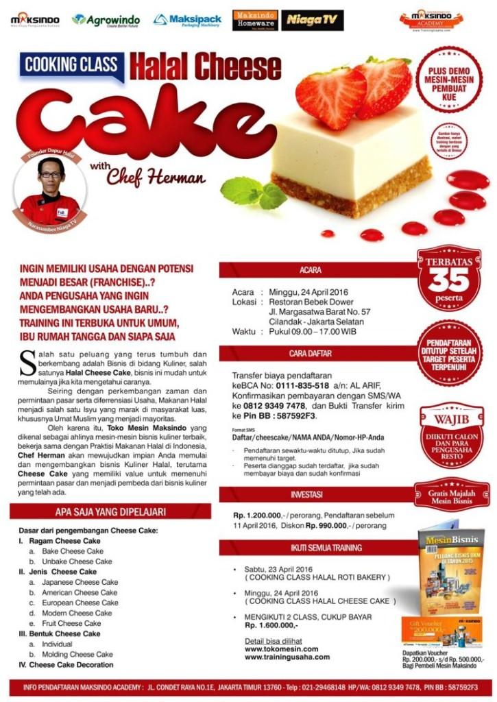 training usaha kue maret 2016