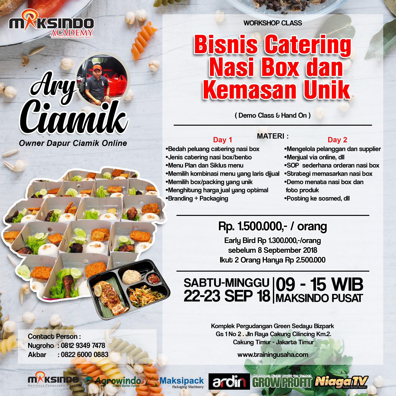 Kemasanunik: Workshop Class Bisnis Kuliner Catering Nasi Box & Kemasan